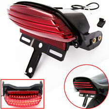 Tri-Bar Fender LED Tail Brake Light Bracket For Harley Softail FXST FXSTC FXSTB