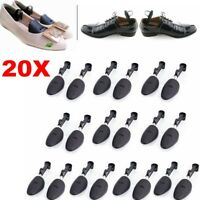 10Pair Mens Ladies Adjustable Form Plastic Shoe Tree Shaper Boot Shoes Stretcher