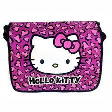 Sanrio Hello Kitty Black Pink Messenger Crossbody School Campus Travel Bag NWT