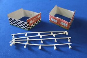 Vintage Scalextric Cardboard Ramp Supports With Shell Banner & Plastic Rails
