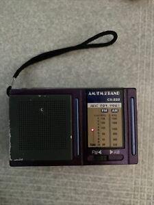 Portable AM/FM Speaker Radio CX-222