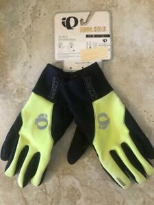 NEW! Pearl Izumi SELECT Softshell Men's Gloves 14141209 Screaming Yellow Medium
