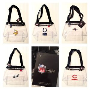 Officially Licensed Clearly Stadium Clear Zip Tote Zipper Close Bag