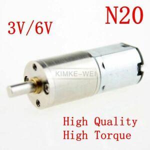 N20 12GA 3V/6V DC 6-200RPM Mini Torque Gear Box Motor Reducer Reversible Motor