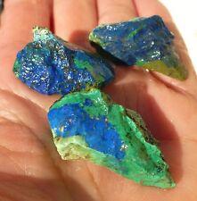 azurite royal blue gem mix rough lot cabbing lapidary copper world mine