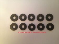 "10 Rubber Washers 1"" od x  5/16"" hole x 3mm Thick"