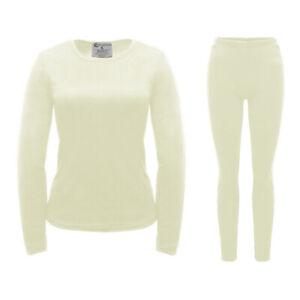 Women's Ultra Soft Fleece Lined Thermal Top & Bottom Base Layer Underwear Set