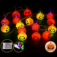 2.7M Pumpkins Colorful LED String Lights for Halloween Them Decoration Party