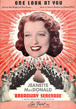 "BROADWAY SERENADE Sheet Music ""One Look At You"" Jeanette MacDonald"