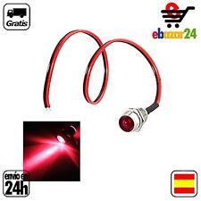 Luz LED ROJO ROJA 12V IP55 piloto indicador bombilla indicador cable  *Envío GRA