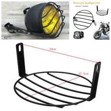 """Universal 7"""" Motorcycle Retro Vintage Headlight Metal Mesh Grill Protector Cover"""
