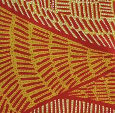 AUSTRALIAN ABORIGINAL QUILTING FABRIC - BODY PAINTING GOLD - by FQ or METRES