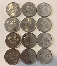 2000 Canada Millenium 25 cent Quarters - Complete UNC Set of 12 Coins Jan - Dec