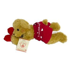 """Hallmark Bear 12"""" Plush With Heart Wearing Red Boxers Bunnies by the Bay 2002"""