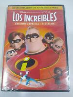 Los Increibles Edicion Especial Disney Pixar - 2 x DVD Español Ingles Nueva