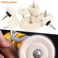7x polissage tampon forage Kit roue pour polisseur de voiture en aluminium inox