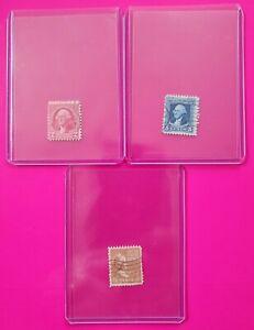 1932 GEORGE WASHINGTON 2 & 5 Cent Red/Blue Stamps + Brown M. WASHINGTON