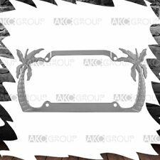 Chrome License Plate Frame RAPTOR HIBISCUS Auto Accessory