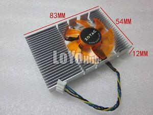 NEW Zotac 9400GT GT210 GT520 graphics card fan heatsink Power Logic PLD05010S12L