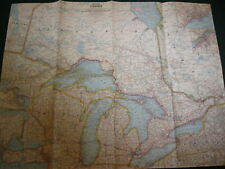 1963 CENTRAL CANADA NATIONAL GEOGRAPHIC MAP