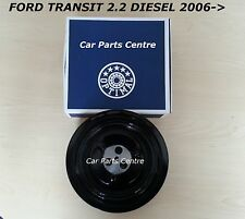 FOR TRANSIT BOXER RELAY 2.2 HDI CRANK SHAFT CRANKSHAFT DAMPER PULLEY 2006- 06 on