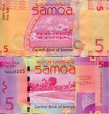 SAMOA 5 Tala Banknote World Paper Money UNC Currency Pick p-38 Bill Note 2008