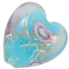 4 Pieces Lampwork Heart Glass Beads - 20mm - A4185