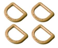 4 ITW Nexus TAN GhillieTex 25mm D Rings (DIY Tactical