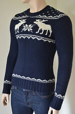 NEW Abercrombie & Fitch Gothics Mountain Sweater Jumper Pullover Navy M RRP £200