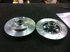 TOYOTA STARLET TURBO DRILLED GROOVED BRAKE DISCS REAR WITHOUT ABS