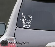 Hello Kitty AK47 Decal Sticker Revolution AK 47 Sniper bad funny car truck
