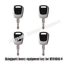 4PCS Heavy Equipment Ignition Key Fit For Hyundai -9 Master Key