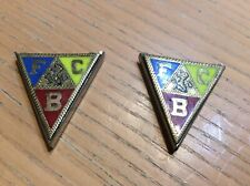 FBC Knights Of Pythias Order Of Fraternal Collar Tips Rare