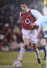 """ROBERT PIRES """"CONTROLLING THE FOOTBALL"""" POSTER FROM ASIA - Arsenal FC Soccer"""