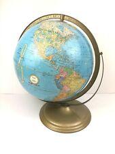Vintage Mid Century 60's Crams IMPERIAL World Globe George C Crams Metal Base
