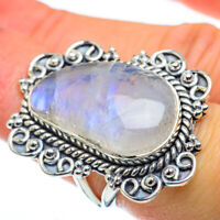 Huge Rainbow Moonstone 925 Sterling Silver Ring Size 6.5 Ana Co Jewelry R50207F