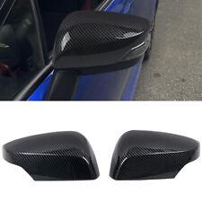 Carbon Fiber Black Side Door Mirror Cover For Subaru WRX / WRX STI 2015-2020