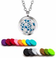 Essential Oil Diffuser Necklace Stainless Steel Aromatherapy Stars & Flowers