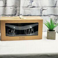 NEW Rae Dunn Black Ceramic SUGAR & CREAM Sugar Bowl and Creamer Combo Box Set