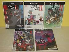 CIVIL WAR: X-MEN #1-4 - Complete Series - MARVEL - 5 Variant Set FIGURE Baby +++