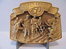 John Deere Walking Plow Belt Buckle 1987 150 Yr Horse Drawn Limited Ed 2737 Gold