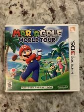 Mario Golf World Tour - Nintendo 3DS 2DS XL - AUTHENTIC - TESTED - CLEANED - CIB