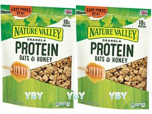 2 Packs Nature Valley Oats 'n Honey Protein Granola Cereal 28 OZ Each Pack