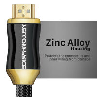 Braided 50ft HDMI 2.0 Cable 4K 18Gbps with Ethernet HDCP 2.2 , by Yellow-Price