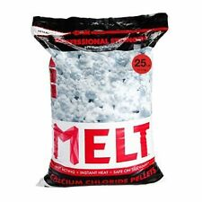 Pure Calcium Chloride Pellets Instant Heat Ice Melter Resealable Bag 25 lbs