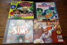 4 (PC) Games: Sims, Restaurant Empire, Monopoly, Casino Island to Go VG