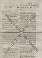 Journal de l'Empire du Dimanche 11 Janvier 1807. Imprimerie Le Normant.