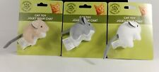 New listing Cat Kitten Play Toy Fury Round Mouse 3 Pack One of Each Color New