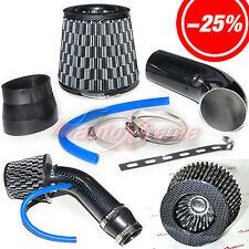 "2.5""-3.0"" UNIVERSAL COLD AIR Intake INDUCTION HOSE KIT System & JDM Filter BLACK"