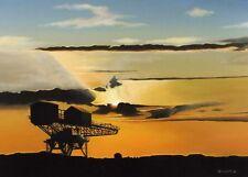 """ Silent Reflection "" Hammerhead Crane isle of wight 10 x 8 Mounted Miniprint"